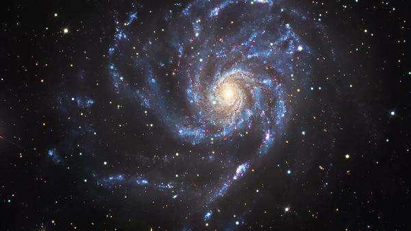 Pinwheel galaxy (M101), optical image Rights-managed stock video