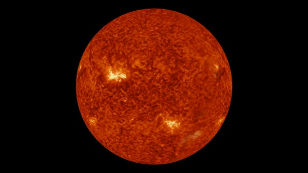 Helium wavelength of the Sun, SDO footage. Rights-managed stock video