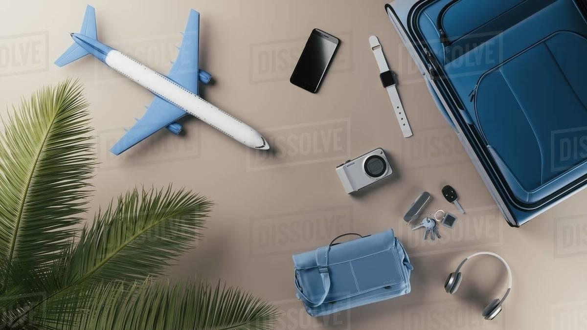 Travel gadgets Royalty-free stock photo