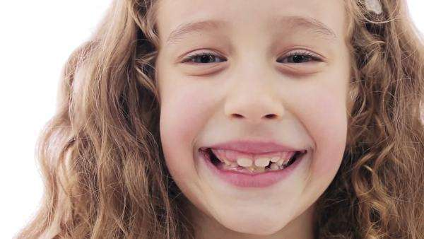 Portrait of a cute little girl smiling. Royalty-free stock video