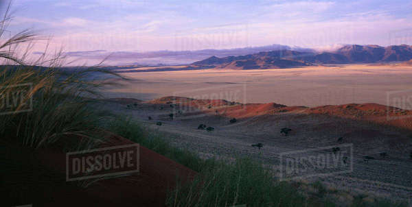 Overview Landscape at Sunset Naukluft Park, Namibia, Africa Rights-managed stock photo