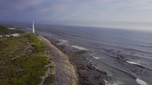 Aerial shot of a coastline Royalty-free stock video