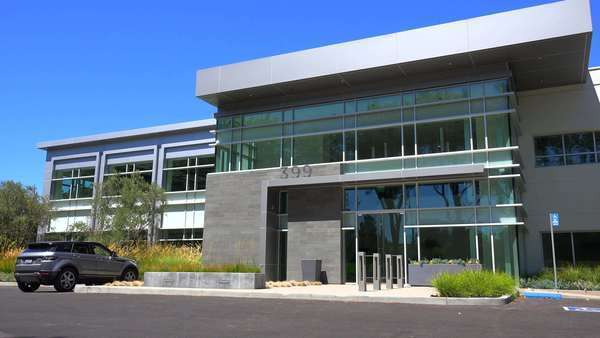 modern office exterior. Establishing Panning Shot Of The Exterior A Generic Modern Office Building. Royalty-free