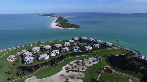 An aerial over Captiva Island, Florida. Royalty-free stock video