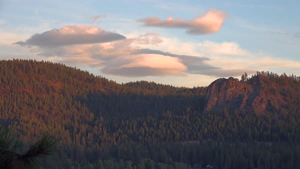 Time lapse footage of clouds moving over the mountains near Lake Tahoe in the Sierra Nevada range. Royalty-free stock video