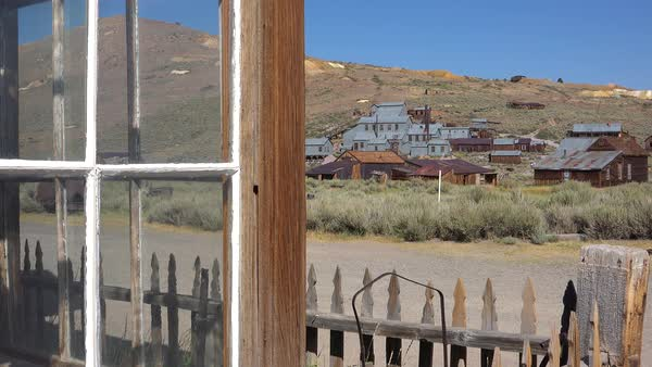 The old rusting silver mine at Bodie California perfectly describes an abandoned ghost town. Royalty-free stock video