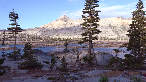 Establishing shot of the Desolation Wilderness in the Sierra Nevada mountains California. Royalty-free stock video