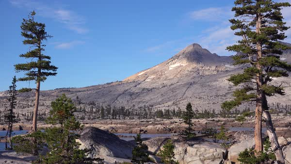Time lapse shot of the Desolation Wilderness in the Sierra Nevada mountains California. Royalty-free stock video