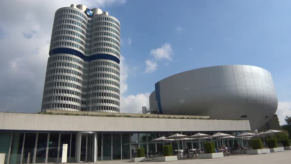 BMW headquarters in Munich, Germany. Royalty-free stock video