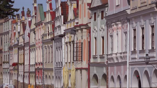 The quaint village of Telc in the Czech Republic. Royalty-free stock video