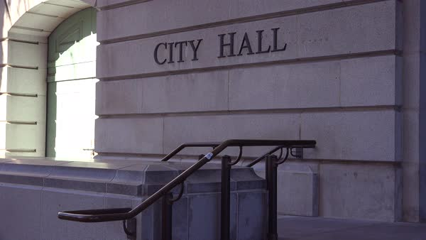 A generic establishing shot of a City Hall. Royalty-free stock video
