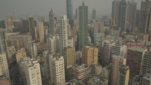 Aerial shot of Hong Kong cityscape Royalty-free stock video