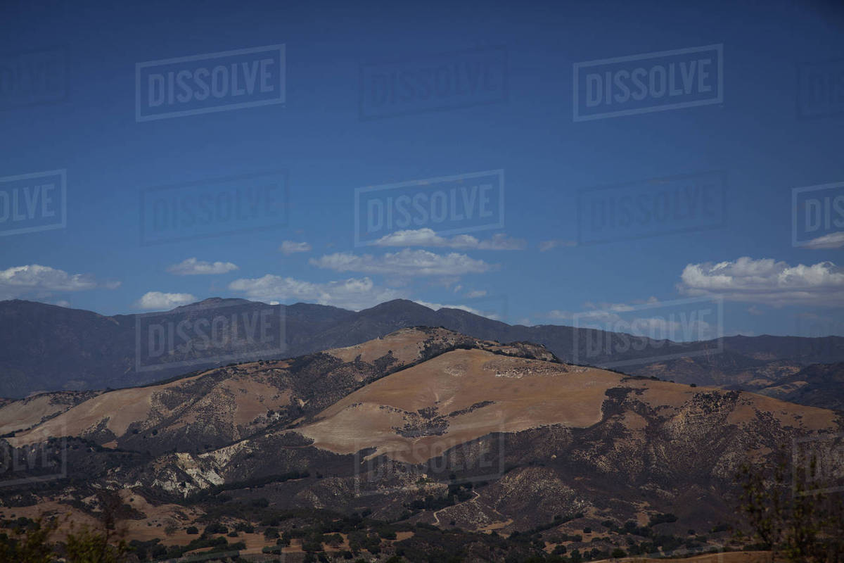 View of mountains against cloudy sky Royalty-free stock photo