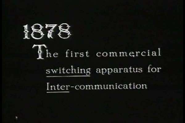 A re enactment of the use of a telephone in 1878. Royalty-free stock video