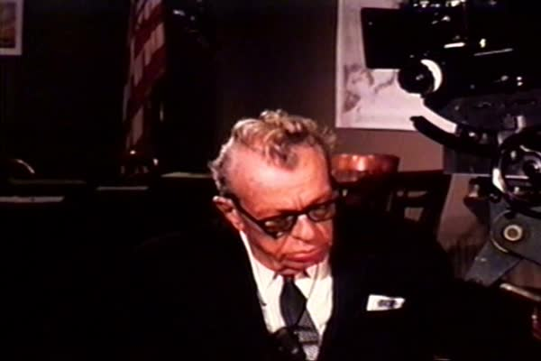 Children laugh and play as Senator Everett Dirksen describes how they are the hope of America's future in 1968. Royalty-free stock video