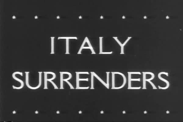 Italy surrenders to Allied Forces during WWII. Royalty-free stock video