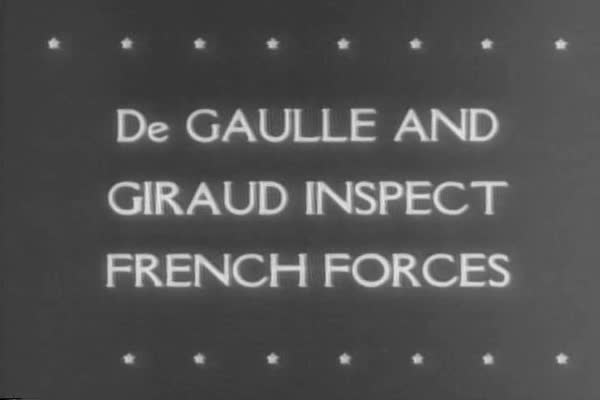 Charles DeGaulle and Henri Giraud inspect the french forces in North Africa during WWII. Royalty-free stock video