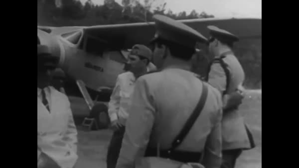 Scenes from Rio and other locations in Brazil during World War Two including its air force and army. Royalty-free stock video