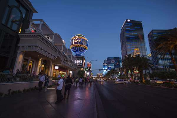 Hyperlapse of Las Vegas Strip in Nevada, USA Royalty-free stock video