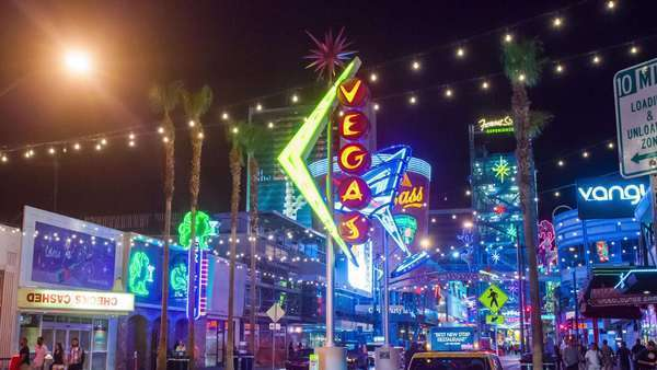 Hyperlapse of neon lights in Las Vegas,  Nevada Rights-managed stock video