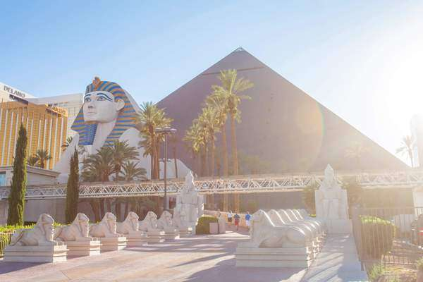 Hyperlapse of Luxor Hotel and Casino in Las Vegas,  Nevada,  USA Rights-managed stock video
