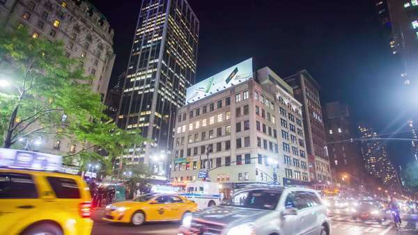 Hyperlapse of traffic in Midtown Manhattan, New York City Rights-managed stock video