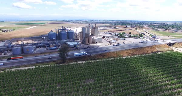 Aerial shot of an industrial plant Royalty-free stock video