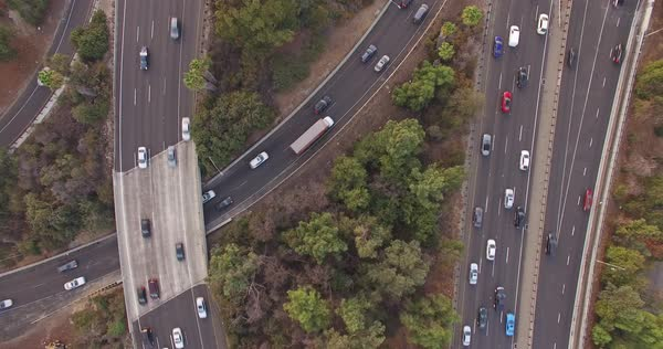 Top view of highway traffic Royalty-free stock video