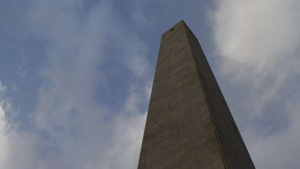 Bunker Hill Monument clouds timelapse Royalty-free stock video