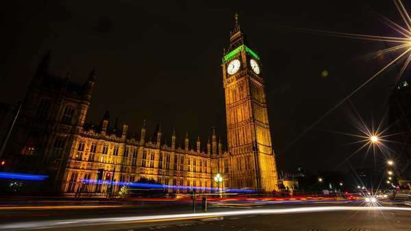 The Big Ben at night Royalty-free stock video