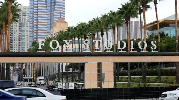 FOX Studios Gate - Los Angeles Royalty-free stock video