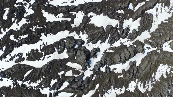 Aerial shot of snow covered mountain Royalty-free stock video