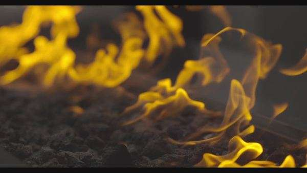 Slow motion close up shot of yellow flames Royalty-free stock video
