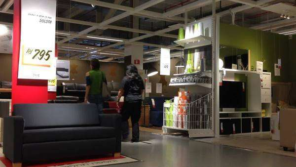 people shop in ikea store royalty free stock video