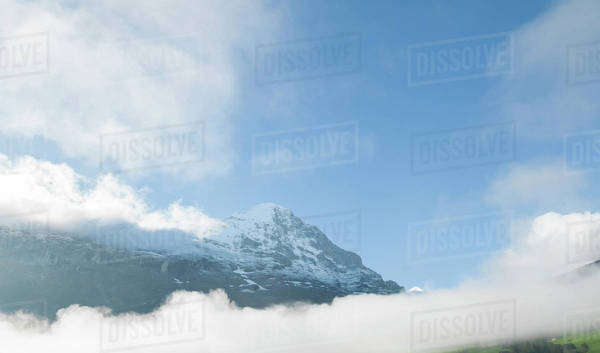 Landscape with mountain in Switzerland Royalty-free stock photo