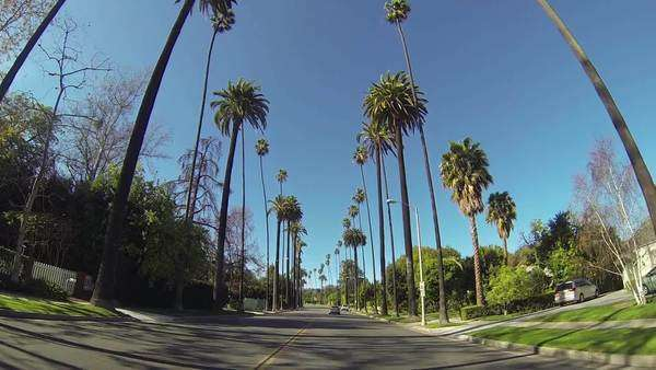 Driving through Beverly Drive in Beverly Hills Royalty-free stock video
