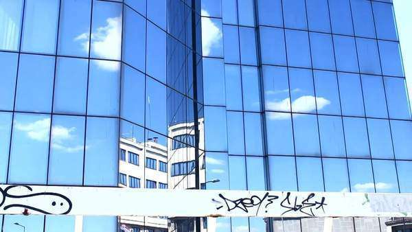 Building clouds Reflection time lapse Royalty-free stock video