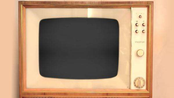 Original Retro TV from 1960s Royalty-free stock video