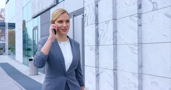 Business Woman Meeting Her Co-Worker Outside The Office On Sunny Day Royalty-free stock video