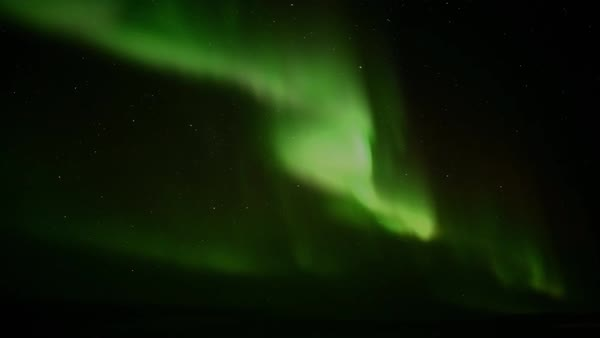 Time lapse shot of the Arctic with polar light Rights-managed stock video