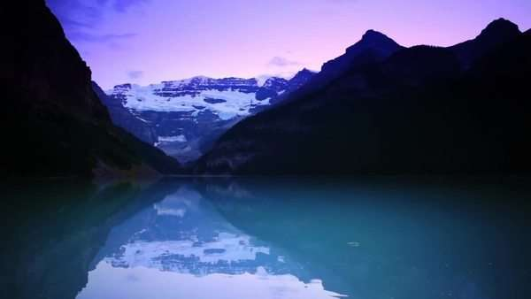 Banff National Park, Canada, Lake Louise, Sunset Royalty-free stock video