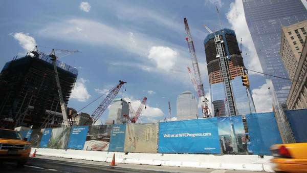 Building site for the World Trade Center Royalty-free stock video