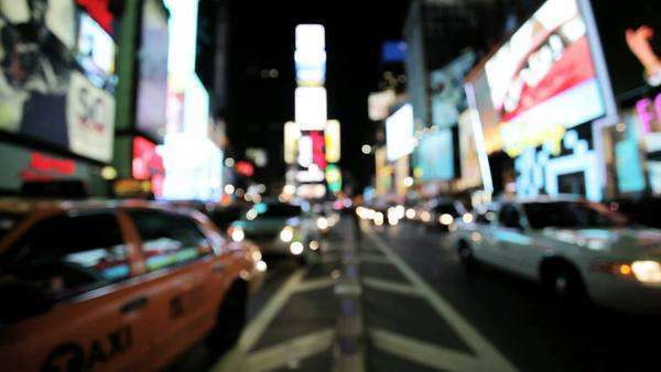 Blurred view of Times Square Royalty-free stock video