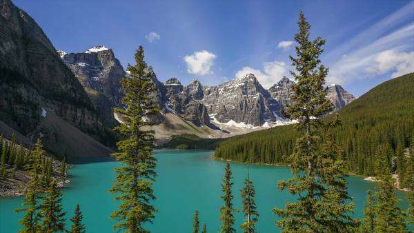 Banff National Park, Canada, Moraine Lake, timelapse Royalty-free stock video