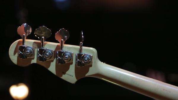 Close-up shot of a guitar Royalty-free stock video