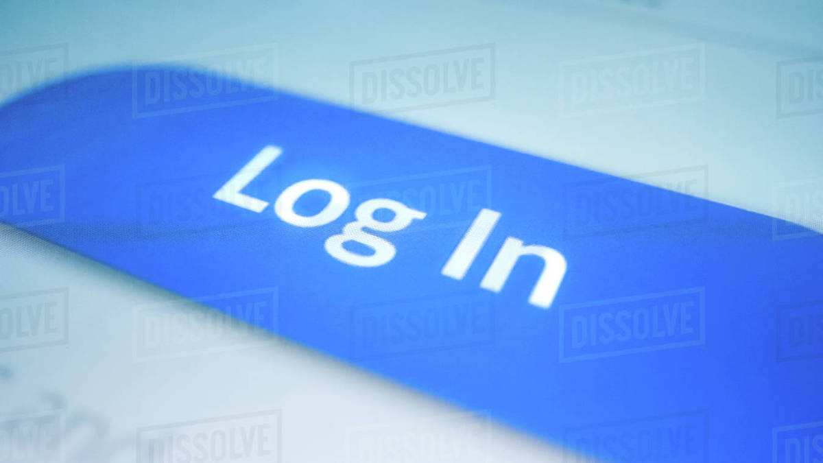 Close-up Macro Shot: Smartphone with Open Application Showing Authorization Screen asking to Enter Password Log In Button Activates. Touch Screen Mobile Phone Device with Mock-up Sign in Access Window Royalty-free stock photo