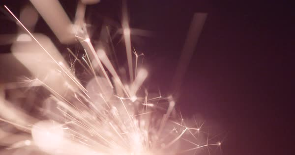 Static shot of a burning sparkler Royalty-free stock video