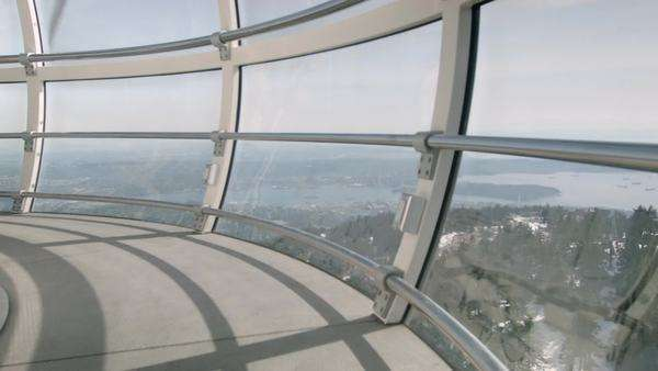 Interior shot from windmill observation deck Royalty-free stock video