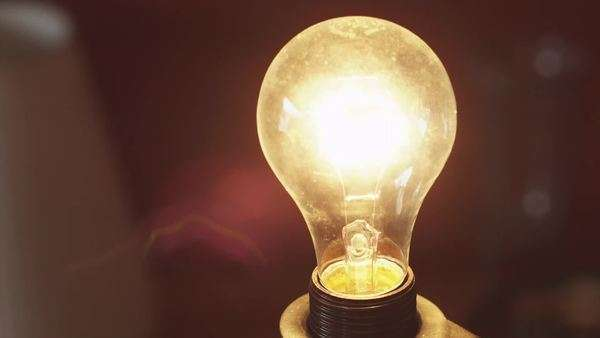 Close-up of light bulb changing light intensity, Utah Royalty-free stock video