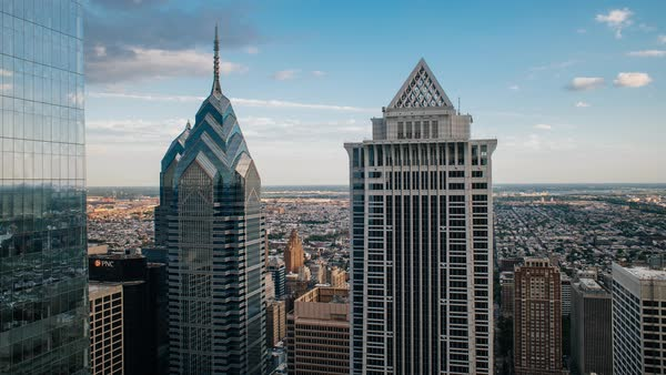 Timelapse of skyscrapers in Philadelphia Royalty-free stock video